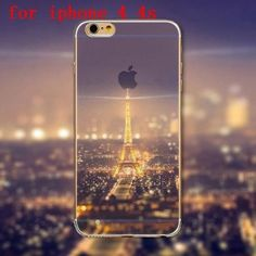 Ultra thin Ocean City Sky Transparent Phone Cover Case For iPhone 4 4S 5 5S 5C 6 6S 6Plus 6s Plus TPU Soft Mobile Phone Bag