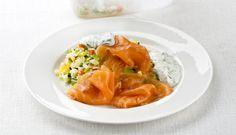 Ensalada de arroz con Salmón Noruego Ahumado