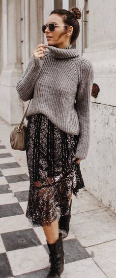 A knit sweater that`ll cheer you up when you have to brave yet another snow storm