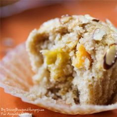 Mango Muffins - Dizzy, Busy and Hungry - Moist, citrusy, and delicious, these muffins will brighten even a Monday morning! Healthy Breakfast Choices, Grab And Go Breakfast, Breakfast Recipes, Breakfast Ideas, Breakfast Muffins, Mango Muffins, Almond Muffins, Savory Bread Recipe, Cupcakes