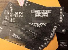 DIY Toddler birthday invitations - Rock n' roll themed birthday - Concert ticket invitations - Riot's birthday fest 2016