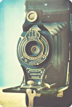 An old Brownie camera! I have one that was bought by my great grandfather brand new :-)