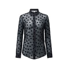 Polka-dot blouse Uniqulo