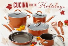 Get inspired to prepare family meals for the holidays with the NEW Rachael Ray Cucina Collection. ENTER TO WIN a Rachael Ray Cucina 12-Piece Cookware set, plus bonus prizes, in our Cucina Holidays‬ #Giveaway! Click on the image to enter.