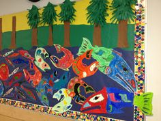 First Nations lifecycle of a Salmon bulletin Board