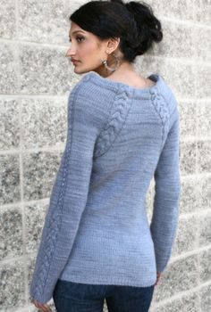 Knit Sweater Pattern - Silken Scabbard $7 pattern