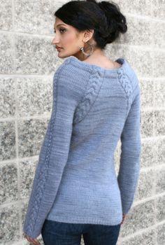 Knit Sweater Pattern - Silken Scabbard $7 pattern
