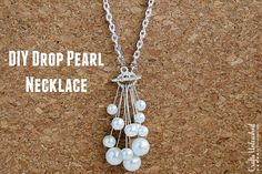DIY Pearl Necklace: Step by Step - Crafts Unleashed ~ easy enough for a beginner! I really like this one!