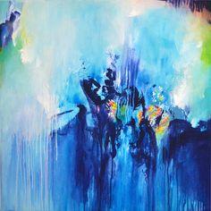 Original large fine art abstract painting modern by ARTbyKirsten