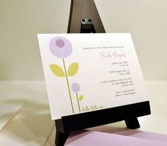 little flower baby shower invitation