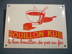 Plaque Emaillee Bombée Bouillon KUB POT AU FEU Cuisine TIN Enameled Sign | eBay