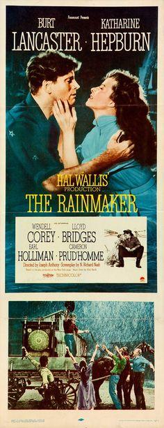 The Rainmaker 1956 Burt #Lancaster Katharine #Hepburn #western