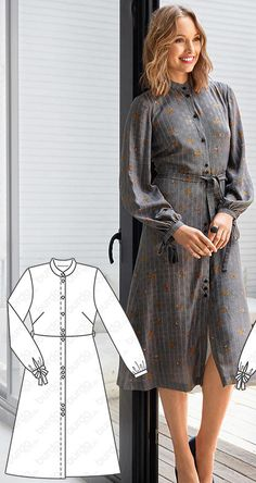 Shirt Dress Burda Oct 2018 #103 Pattern: $5.99