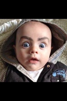 Drawing Eyebrows on Babies Will Not Disappoint You
