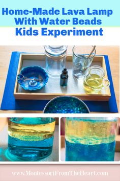 A home-made water beads lava lamp is a fun kids science experiment for preschoolers and kindergarteners to learn about chemistry, density and immiscibility. Baking Soda Experiments, Science Experiments For Preschoolers, Science Experiments Kids, Science For Kids, Science Resources, Lava Lamp Experiment, Volcano Science Experiment, Stem Science, Mad Science