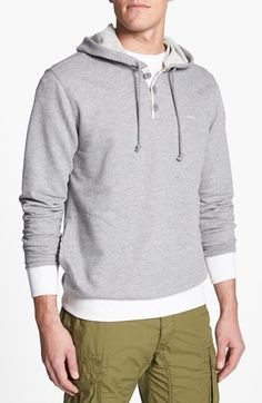 RVCA 'Capo' Pullover Knit Hoodie