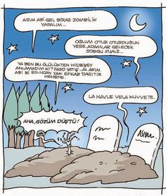 Komik Karikatürler: Zombi Karikatürü Zombilik Yapalım