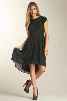 Hi/Low or Fishtail Hem dresses are so cute! This one will take you from church, date night, the ballet, your fav x-mas concert, etc.