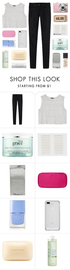 """i don't want the world to see me"" by kristen-gregory-sexy-sports-babe ❤ liked on Polyvore featuring R13, MANGO, philosophy, NARS Cosmetics, Nails Inc., Tom Ford and Fekkai"