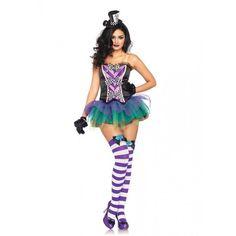 LA83926 Sexy Leg Avenue TEMPTING MAD HATTER Fancy Dress Costume