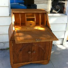 Antique desk/cabinet.
