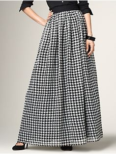 I'm not usually a Talbot's girl, but I absolutely love this houndstooth skirt.