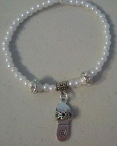 Faux Pearl with Sandal Charm