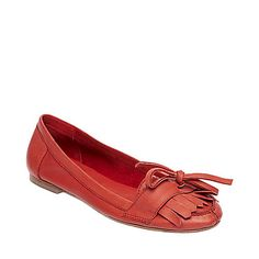 COCOAAA RED LEATHER women's casual flat mocs - Steve Madden
