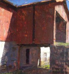 "Interview with Jon Redmond : Painting Perceptions ""Barn"" by JOHN REDMOND, contemporary American painter"