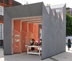 Smith pavilion featuring EQUITONE facade materials at Clerkenwell Design Week 2014.