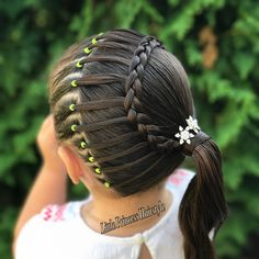 "1,045 Likes, 67 Comments - Adriana (@little_princess_hairstyle) on Instagram: ""Beautiful ladder braid. slide ➡️ for another view. ☺️ have a Great day …"""