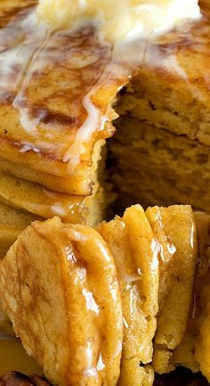 Sweet Potato Pancakes - Made from leftover sweet potato casserole, these delicious pancakes are some of the best pancakes you will ever eat! Sweet Potato Pancakes, Pancakes Easy, Sweet Potato Casserole, Pancakes And Waffles, Sweet Potato Recipes, Breakfast Dishes, Breakfast Recipes, Pancake Recipes, Homemade Tacos