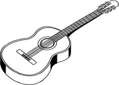 outline of acoustic guitar - Google Search