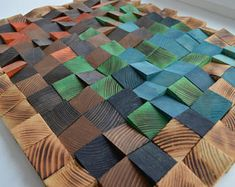 Image result for modern wooden wall plaques geometric