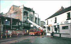 Fire at the Longton Empire in 1993. Photo taken the morning after (New Year's Day).