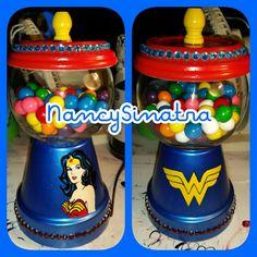 Wonder Woman gumball jar made by Nancy Sinatra 2016