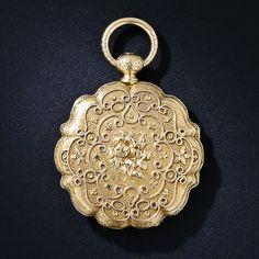 Exquisite Antique 18k Yellow Gold Ladies' Pocket Watch  c. 1880