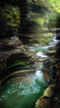 "'The Whirlpool"" - The at Watkins Glen State Park in upstate New York"