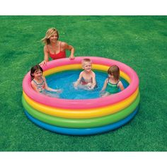 'Little Kid Treasure Hunt in Rice/Sand' -- inflatable pool for this. Little kid can sit in the middle & dig around. (Maybe do two of these - one with cheap plastic toys/sand - one with cheap metallic toys/rice that they have to use a magnet for). $21.99