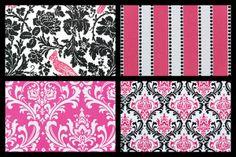 pink and black damask bedding   Design Your Own Dorm Room Bedding