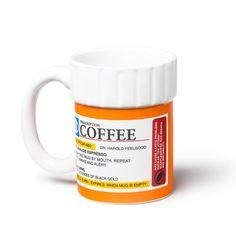 PRESCRIPTION PILL BOTTLE COFFEE MUG