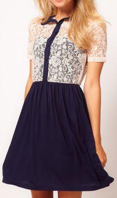 Lace shirt dress 9058