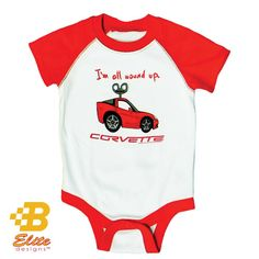 Our C6 Corvette All Wound Up design is now available in infants snap-up bodysuits! You and your little one will love the super soft fabric as well as the cute little red Corvette on the front.This little red Corvette design is availalbe in the following sizes: 6 months, 12 months, 18 months, and 24 months …