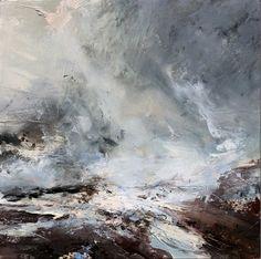 View Janette Kerr's artworks on artnet. Pastel Landscape, Watercolor Landscape Paintings, Seascape Paintings, Oil Painting Abstract, Landscape Art, Abstract Canvas, Ocean Artwork, Sea Art, Large Painting