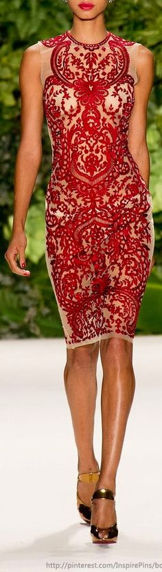 Wow that's some Christmas party frock, I wonder if they do it in a size 6? Naeem Khan