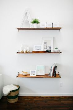Shelf Styling- Ashley Rose Home Tour on Theeverygirl