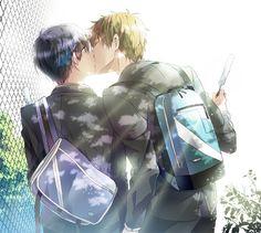 Free! ~~ Stolen kiss :: Makoto x Haruka
