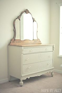 Home by Ally: Ornate wood dresser before and after