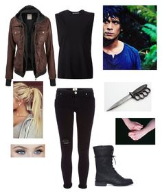 """""""Hunting With Bellamy"""" by tabbyland ❤ liked on Polyvore featuring River Island and Alexander Wang"""