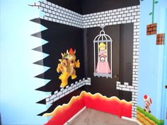 Super Mario Brothers Bedroom Decor – bedroom is where you relax your mind and soul. The bedroom is expected to bring peace and calm. Bedroom For Girls Kids, Kids Bedroom Designs, Kids Room, Bedroom Themes, Bedroom Decor, Bedroom Ideas, Bedrooms, Super Mario Room, Nintendo Room